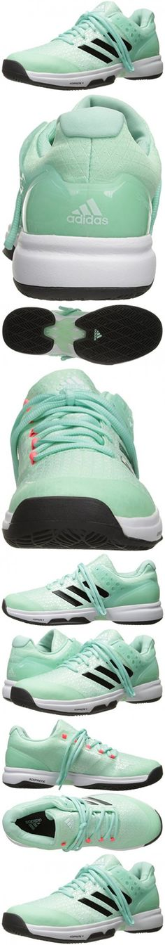 Adidas Performance Women's Adizero Ubersonic 2 W Tennis Shoe, Ice Green/Utility Black/Flash Red, 8 M US
