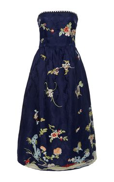 Strapless Embroidered Party Dress by SEA for Preorder on Moda Operandi