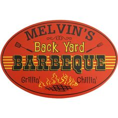 Northwest Gifts - Personalized Back Yard BBQ Sign, $39.95 (http://northwestgifts.com/personalized-back-yard-bbq-sign/)