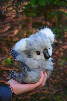 Koala Realistic toy by MonkeyBusinessToys. Whimsical Animals & Fantasy creatures from faux fur and polymer clay, Mystical Posable Animals toys for collectibles and decor