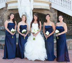 Navy blue bridesmaid dresses | Matt and Jentry: Photographers