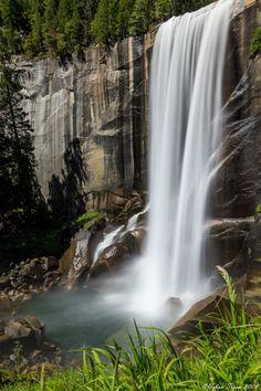 Vernal Fall and Emerald Pool in Yosemite National Park.