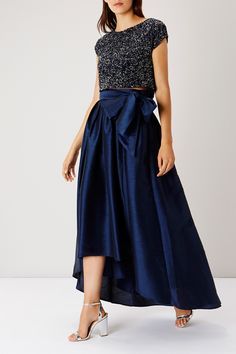 Skirts | Blues MODENA BOW HI LOW SKIRT | Coast Stores Limited
