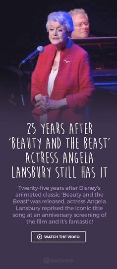 25 Years After 'Beauty and the Beast' Actress Angela Lansbury Still Has It