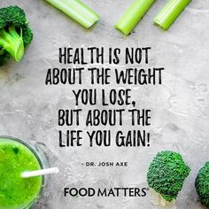 Here's to gaining a new look on life! www.foodmatters.com #foodmatters #FMquotes