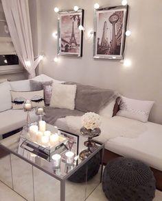 Simple Home Decor Ideas For a Small Living Room Living Room Decor On A Budget, Cozy Living Rooms, Rooms Home Decor, New Living Room, Apartment Living, Warm Home Decor, Deco Design, Home Decor Inspiration, Interior Design