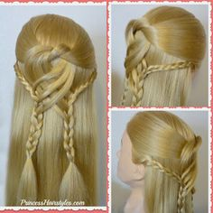 Half up braided hairstyle for #prom or #homecoming! Swirling braids video tutorial.