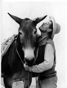 Gunsmoke photo 295 Ken Curtis with horse Old Western Actors, Western Film, Western Movies, Radios, Ken Curtis, Real Cowboys, Old Time Radio, Miss Kitty, Tv Westerns