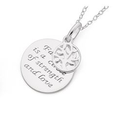 Sterling Silver Family Pendant