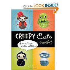 Creepy Cute Crochet: Zombies, Ninjas, Robots, and More! by Christen Haden 1594742324 9781594742323 Crochet Diy, Crochet Books, Learn To Crochet, Crochet Ideas, Crochet Crafts, Zombies, Hipster Home, Angsty Teen, Crochet Mignon