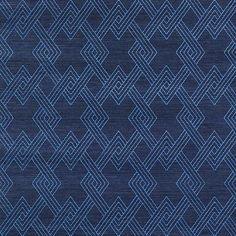 Schumacher Hix Embroidered Sisal Blue Wallpaper - Schumacher Hix Embroidered Sisal Blue Wallpaper / HIX EMBROIDERED SISAL / BLUE