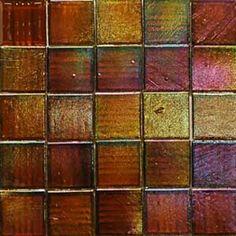 iridescent glass tiles | Iridescent Glass Mosaic Tile Emmy Award Amber 3/4-Inch Kaleidoscope