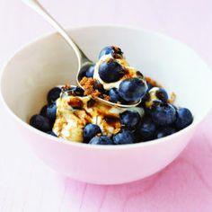 Blueberries with Brown Sugar Cream | MyRecipes.com
