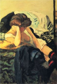 The Red Garter, 1903-1904  Pierre Bonnard.  I love his studies of domesticity.