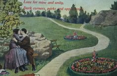 VIntage Romantic Post Card from the 1900's by LoveThisOldHouse on Etsy