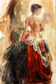 """My Muse"" by Anna Razumovskaya (Oils on canvas 2013)."