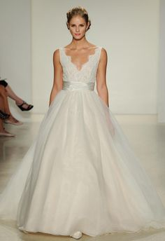 Anne Barge Wedding Dresses Bring Drama With Bold Stripes for Fall 2015 | TheKnot.com