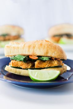 This vegan version of the Vietnamese Banh Mi sandwich is packed full of flavor and crispy peanut crusted tofu.