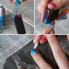 DIY Sponge Manicure   i like this sponge, maybe will work better of me than some others i have tried