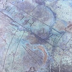 Detail of sundial in Liberty Hall garden.