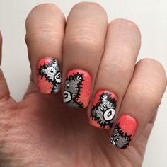 Shiny teddy bear nails. #teddybearnails #teddybearnailart #sallyhansen #sallyhansenca #notd #manimonday #nails #nailart #nailtutorial