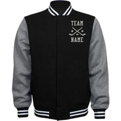 Personalized Hockey Coach Fleece Varsity Jacket | Available in other styles & colors.