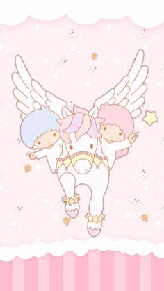 Twins riding a unicorn Kawaii!!!