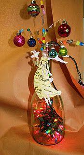Christmas Tree Wine Bottle