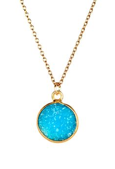 Turquoise Druzy Necklace