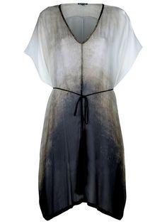 ann demeulemeester dégradé hooded dress.