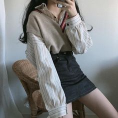 Korean Fashion – How to Dress up Korean Style – Designer Fashion Tips Cute Fashion, Girl Fashion, Fashion Outfits, Womens Fashion, Fashion Design, Fashion Trends, Fashion Fall, Kpop Outfits, Korean Outfits