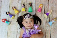 Cute toddler photo idea. Disney princess. 2 year old & Dolls. Girl and her…