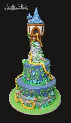 Tangled cake...  Conto de Fadas!