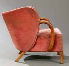 Viggo Boesen Attributed; #107 Oak Easy Chair for Slagelse Møbelfabrik, 1940s.