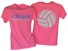 Volleyball Team Above Self Safety Pink Tshirt by BADSportz1, $15.00