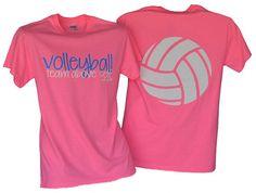 Volleyball Team Above Self Safety Pink Tshirt by BADSportz1, $15.00