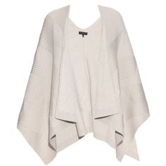 Rag & Bone Blithe merino-wool poncho ($450) ❤ liked on Polyvore featuring outerwear, jackets, coats, tops, cape, cream, cape poncho, pink poncho, pink cape coat and poncho cape coat