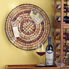 Wine Barrel Hoop Cork Kit. Would make a cool dart board too.
