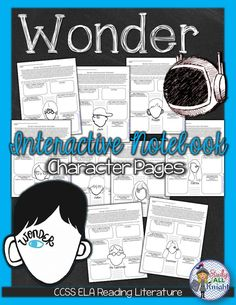 Wonder, by R.J. Palacio: Interactive Notebook Character Pages ($)