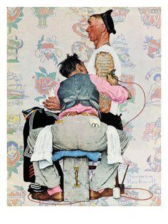 """Tattoo Artist"", March 4,1944  Norman Rockwell"