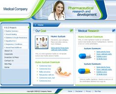 10 Free Medical Templates For A New Website Medical Websites, Free Website Templates, Wound Healing, Research And Development, Medical Research, Projects To Try, Goals, Design, Design Comics