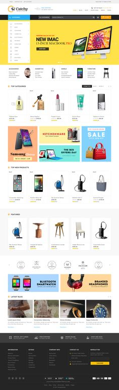 Catchy - Multipurpose WooCommerce Theme suitable for mega shop, electronic, fashion, clothes, grocery or Multipurpose stores.