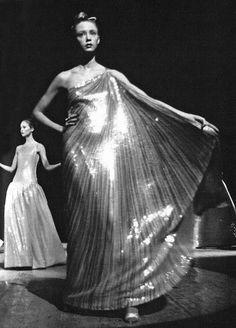 Evening wear by Halston, 1970s.