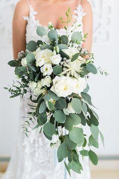 Summer Flower Bridal Bouquet in White and Green https://heyweddinglady.com/mediterranean-citrus-inspired-destination-wedding/ #wedding #weddings #weddinginspiration #destinationwedding #realwedding #bohemianwedding #brides #realbride #weddingdress #bouquet #weddingbouquets