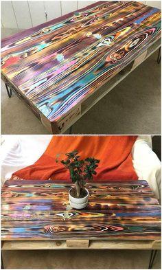 Pallet Home Decor, Diy Pallet Furniture, Funky Furniture, Furniture Projects, Furniture Makeover, Painted Furniture, Furniture Plans, Rustic Furniture, Garden Furniture