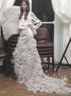 freja beha erichsen at givenchy haute couture autumn/winter 2005-2006