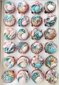 Mermaid cupcakes – For all your cake decorating supplies, please visit www.craft… – … Mermaid cupcakes – For all your cake decorating supplies, please visit www. Cupcakes Design, Cupcakes Cool, Mermaid Cupcakes, Wedding Cupcakes, Birthday Cupcakes, Birthday Parties, Party Cupcakes, Ocean Cupcakes, Seashell Cupcakes