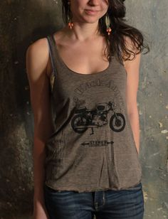 Girly cycle design on an American Apparel tank top.FREE SHIPPING IF ORDER INCLUDES ANOTHER ITEM!!!Please note: you will be charged shipping on the other item(s), but not for this item.