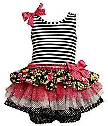 Tutu cute! Bonnie Baby Infant Striped/Glitter Mesh dress $30 - Dillard's