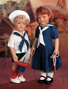 Lillian and Arthur, Little Sister, Little Brother Series. R. John Wright Dolls. http://Theriaults.com